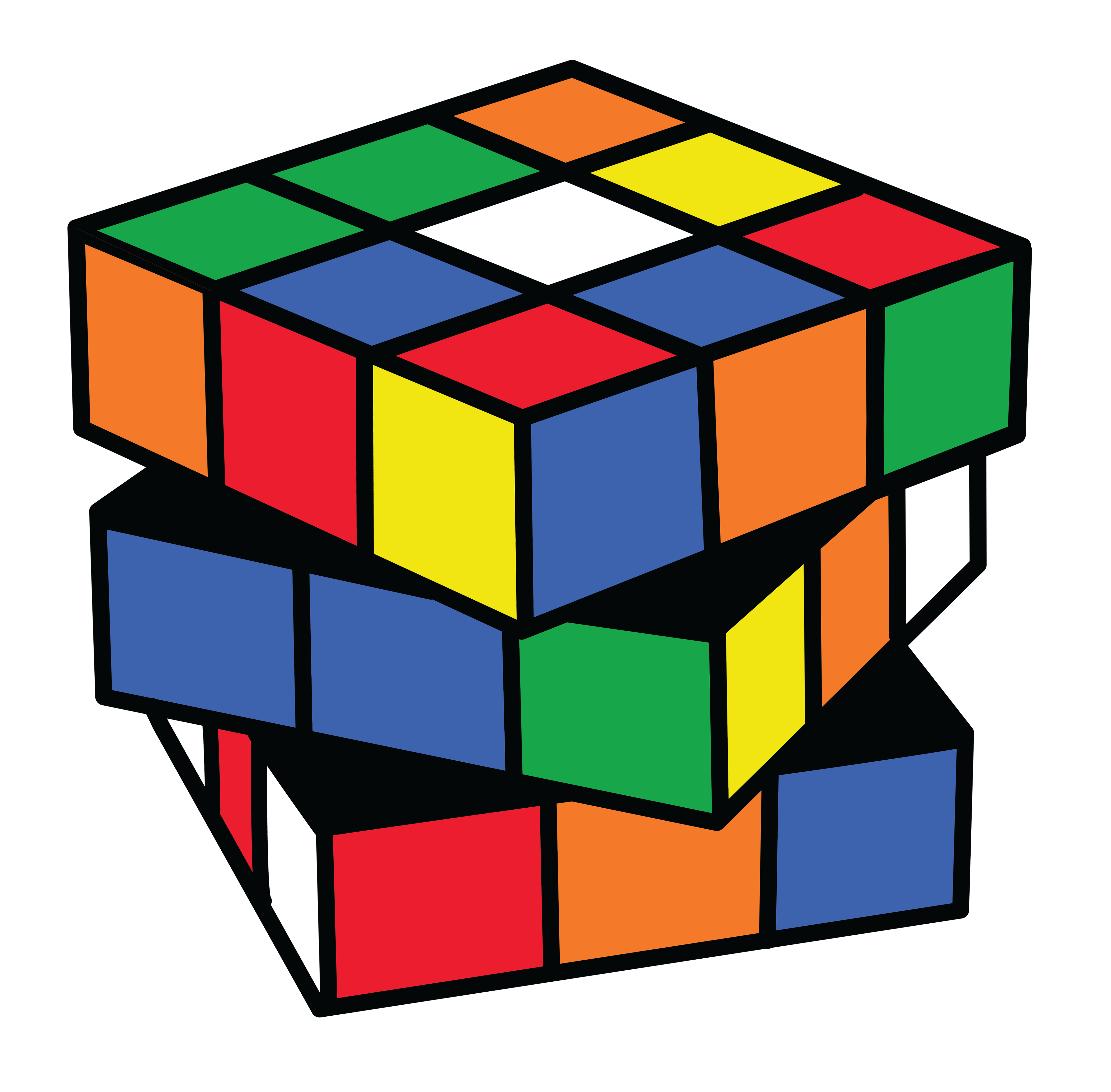 4542x4462 Rubiks Cube Puzzle Clipart