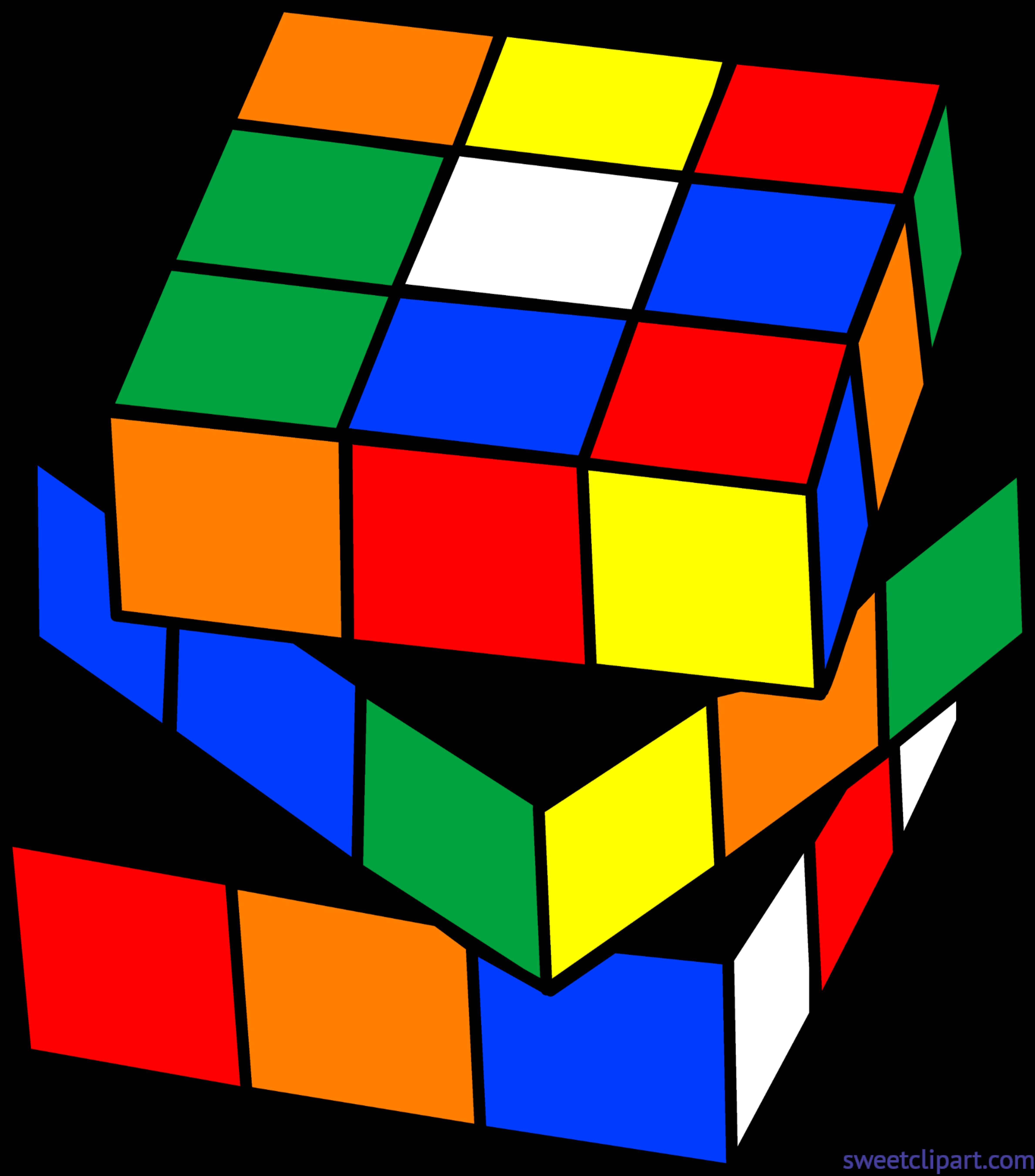 4753x5401 Rubix Cube Clip Art