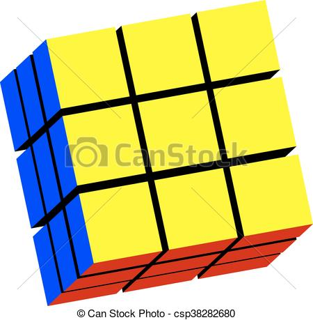 450x459 The Rubik's Cube In Vector On White Background Vector