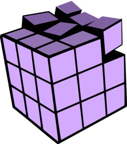 261x297 Purple Cube Rubiks Cube 3d Clip Art