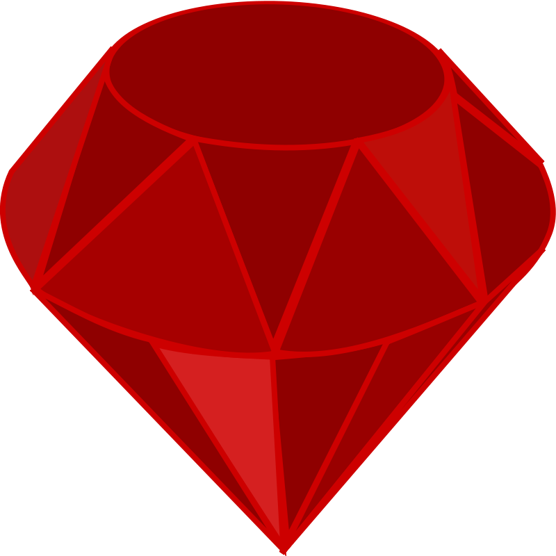 800x800 Free Clipart Red Ruby, No Transparency, No Shading, Square Area