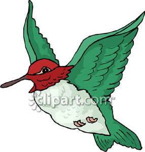 286x300 Realistic Clipart Ruby Throated Hummingbird 3842028