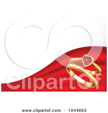 450x470 Royalty Free (Rf) Ruby Heart Clipart, Illustrations, Vector
