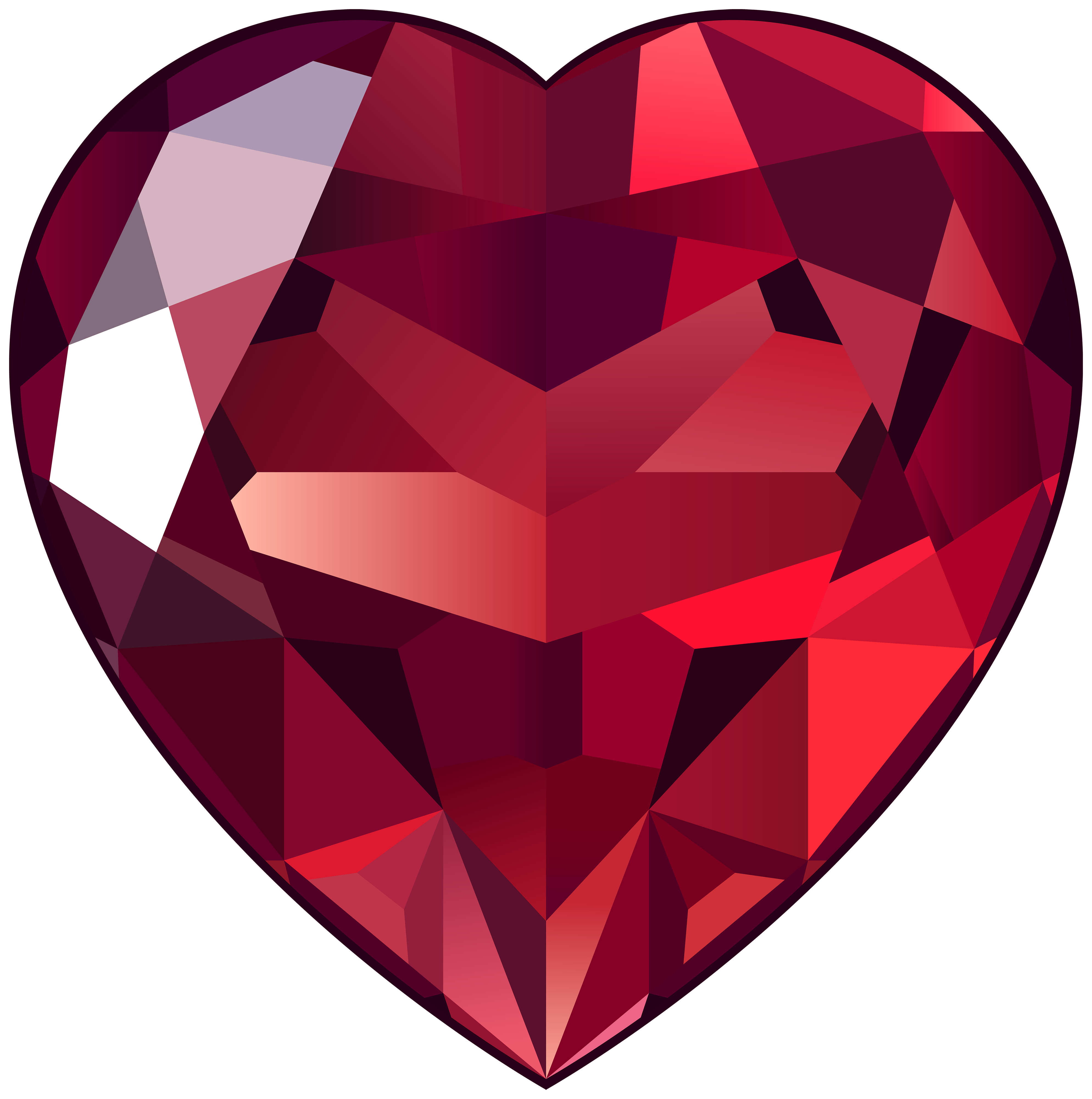 3976x4000 Ruby Heart Png Clipart