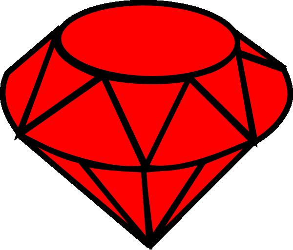 600x513 Ruby Simple Clip Art