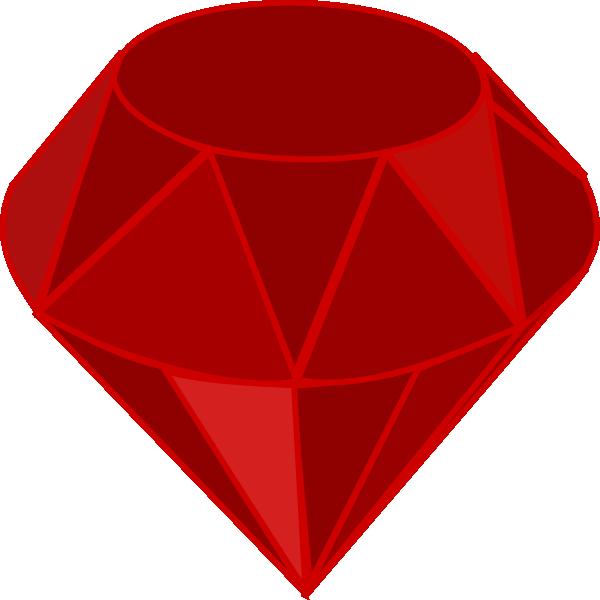600x600 Ruby Stone Clip Art