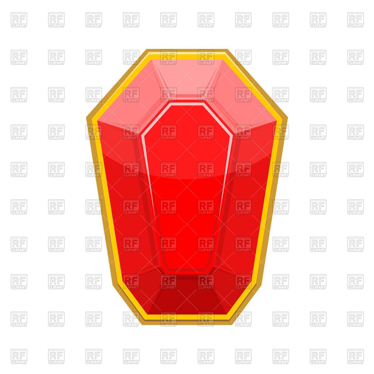 1200x1200 Ruby Gemstone Royalty Free Vector Clip Art Image