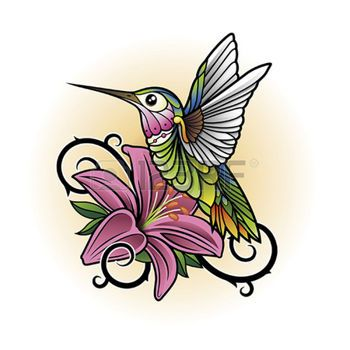 Ruby Throated Hummingbird Clipart