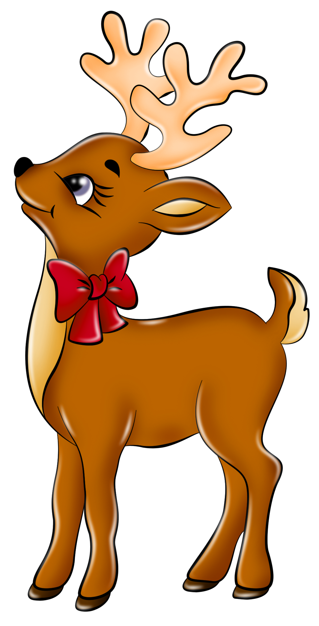 1064x2086 Glamorous Reindeer Clipart Cute Clip Art Free Holiday Christmas