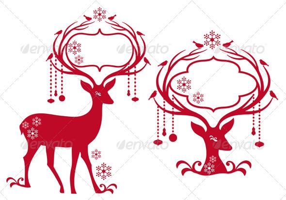 590x413 Reindeer clipart pink