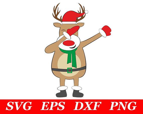 570x453 Dabbing Reindeer SVG Dab Rudolph SVG Red Nosed Reindeer SVG