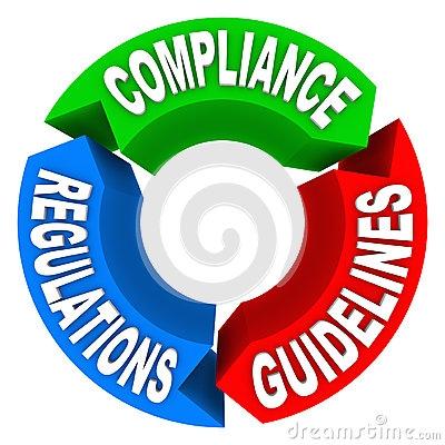 400x400 Compliance Arrow Breaks Through Maze Breaking Rules Stock Image