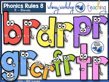 350x263 Phonics Rules 8 Clip Art (R Blends) By Whimsy Workshop Teaching Tpt
