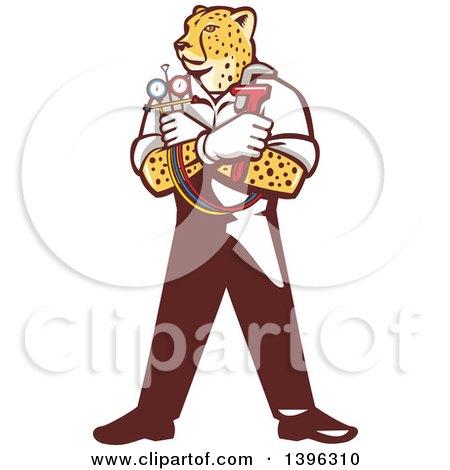 450x470 Royalty Free (Rf) Clipart Illustration Of A Running Cheetah