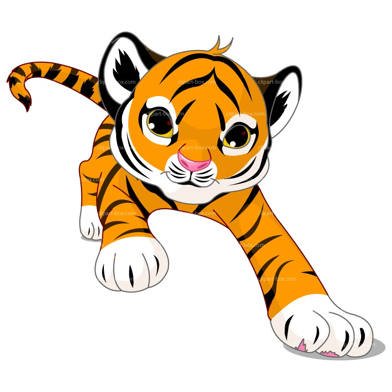 800x800 Running Tiger Clipart Black And White Clipart Panda
