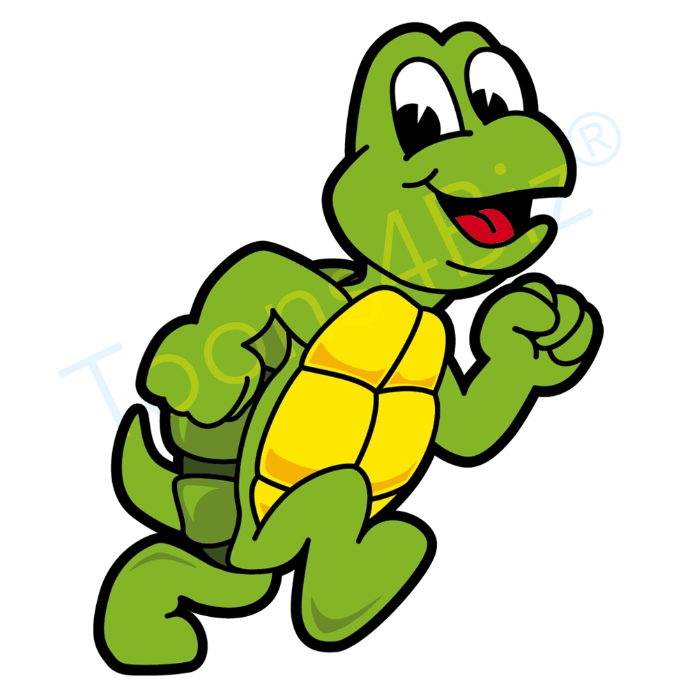 1000x1000 Turtle Mascot Running Clip Art Clip Art
