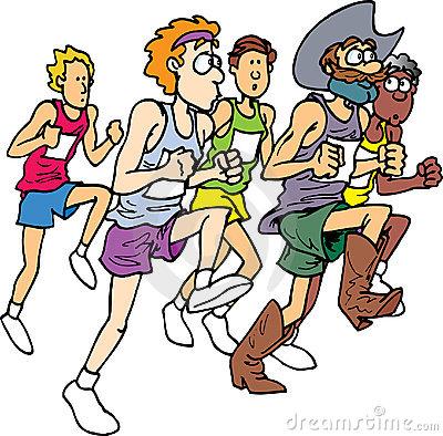 400x394 Marathon Running Clipart