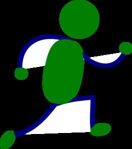 264x298 Running Figure Green Clip Art