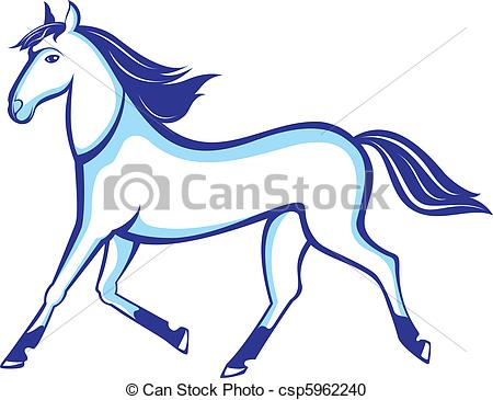 450x365 Illustration Running Horse Insulated On White Background Vector