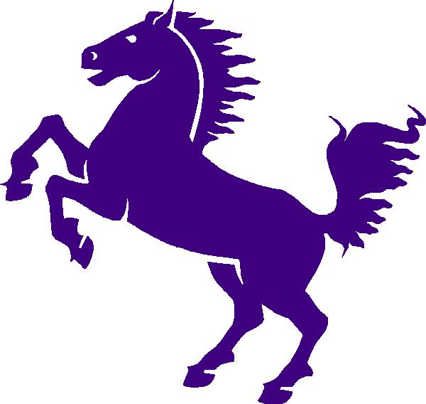 600x568 Purple Mustang Clip Art