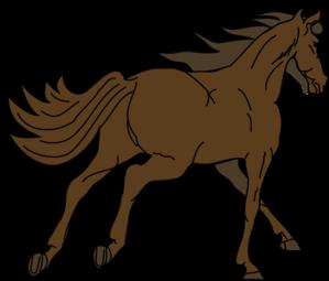 299x255 Running Brown Horse Clip Art