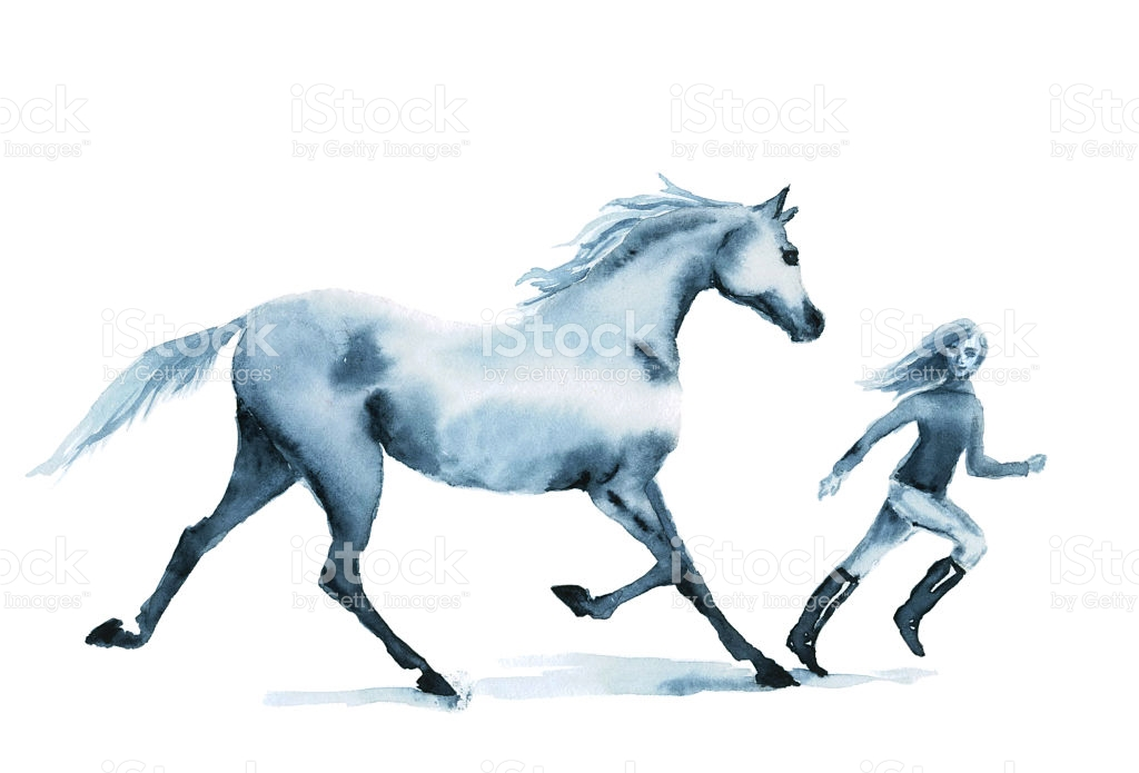 1024x695 Water Color Horse Clipart Collection