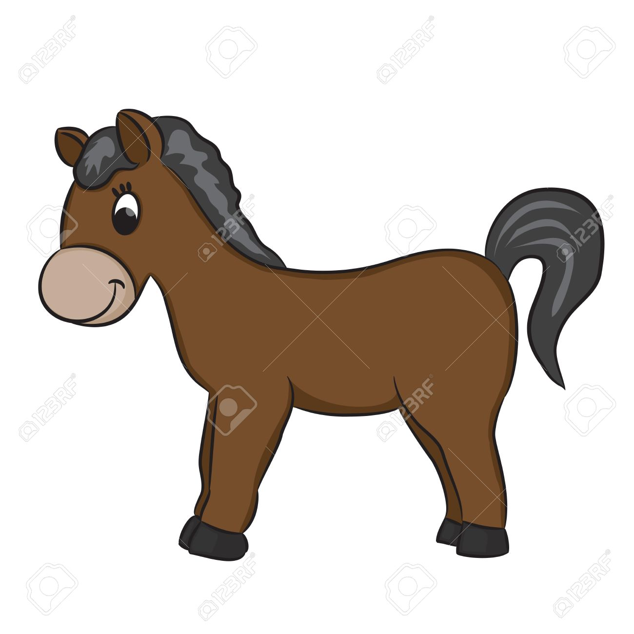 1300x1300 Breathtaking Cartoon Horse Pictures 13 Horses Collection 003