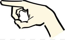 260x160 Index Finger Pointing Middle Finger Clip Art