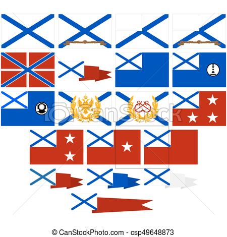 450x470 Navy Flags Pennants Russia (Since 1992) Navy Flags