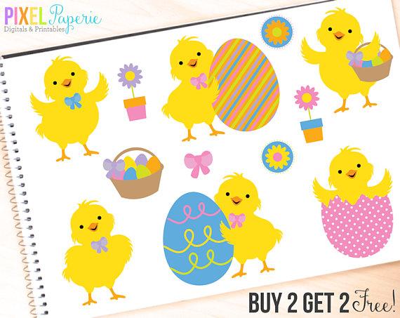 570x453 Easter Clipart Chicks Clip Art Digital Easter Chicks Digital