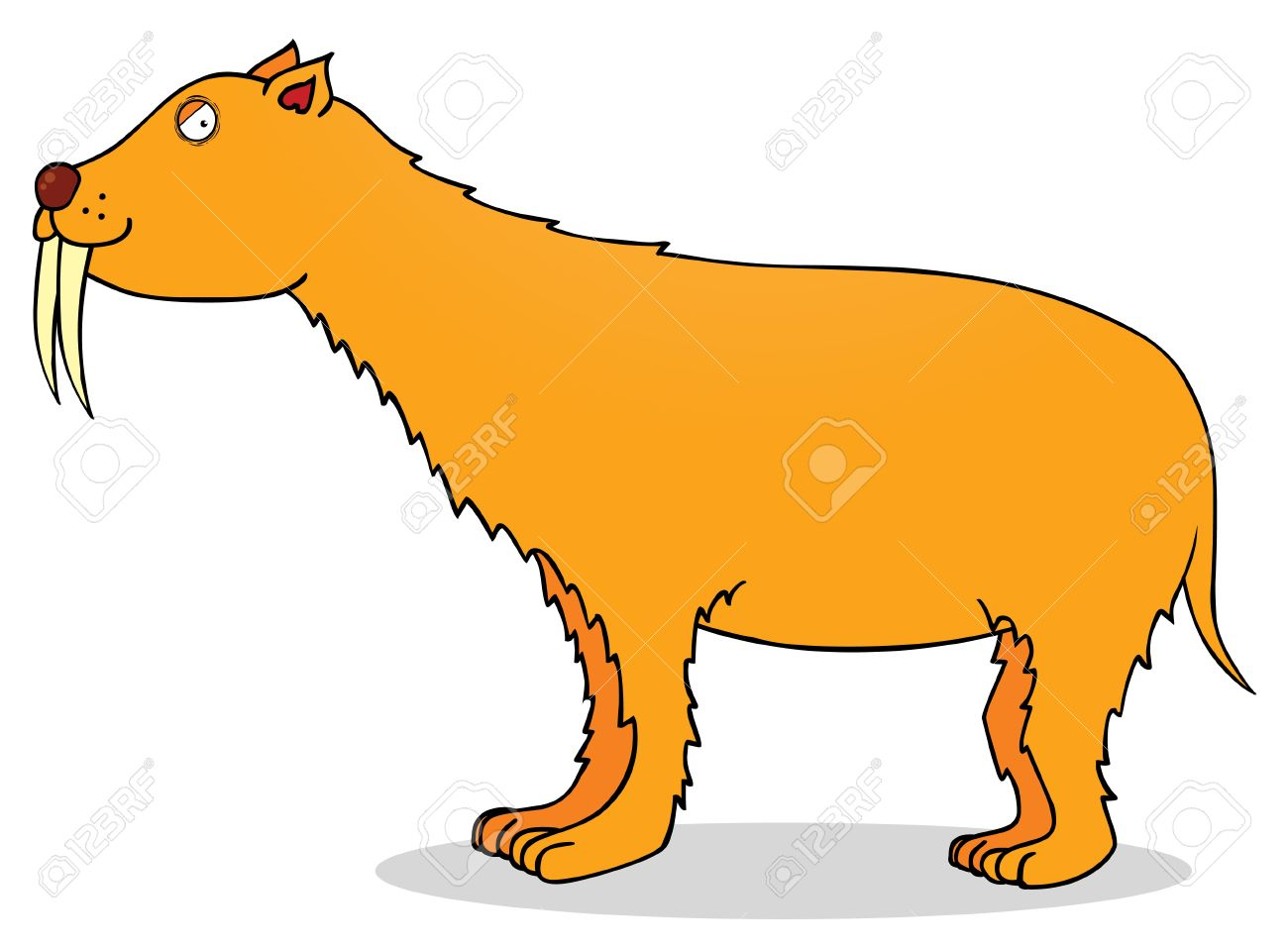 Saber Tooth Tiger Clipart