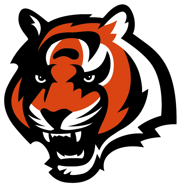 600x618 Cincinnati Bengals Football Team Logo Graphic Bengal Tiger Head