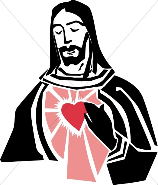 523x612 Jesus And The Sacred Heart Graphic Jesus Clipart