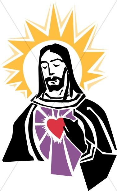 377x612 Sacred Heart Of Christ Inspirational Clipart
