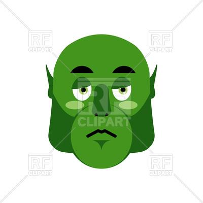 400x400 Ogre Sad Emoji Royalty Free Vector Clip Art Image