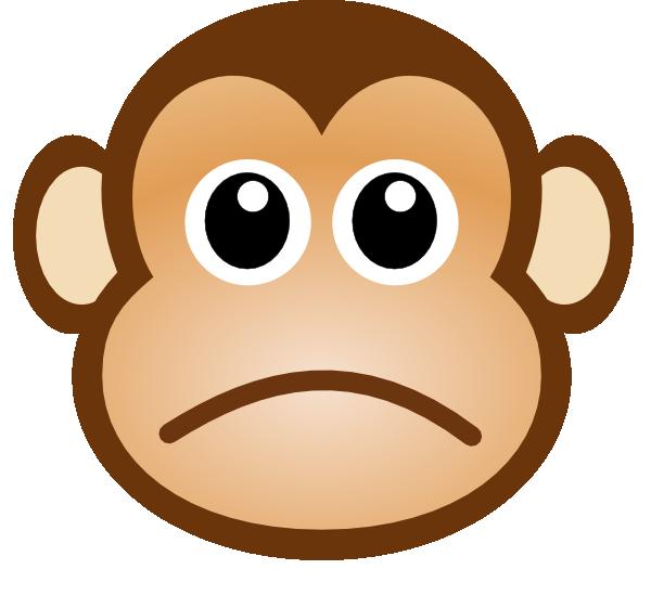 600x561 Sad Monkey Clip Art