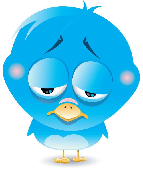 500x600 Sad Twitter Bird Icon Cliparts Clipart Me