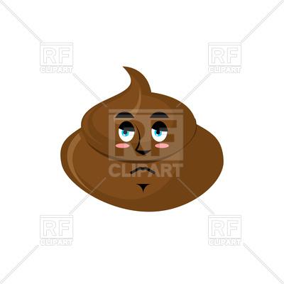 400x400 Shit Sad Emoji Royalty Free Vector Clip Art Image