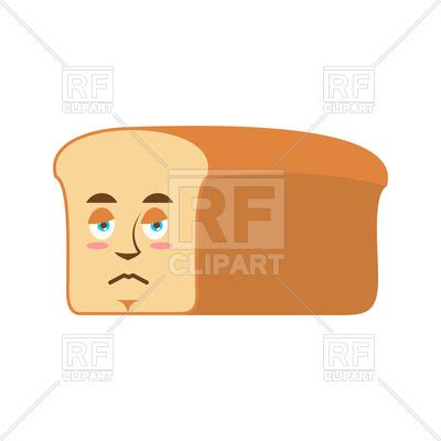 400x400 Bread Sad Emoji Royalty Free Vector Clip Art Image