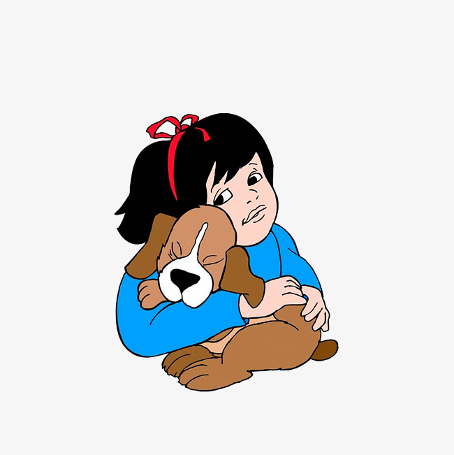 650x651 The Little Girl With A Puppy In Her Arms, Children And Dogs