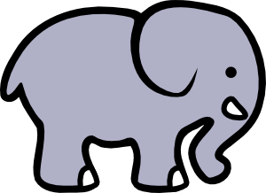 300x218 Cartoon Elephant 2 Clip Art