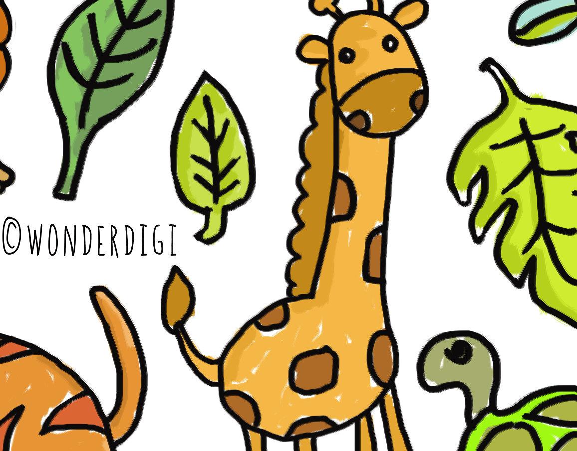 1156x905 Zoo Animal Doodles