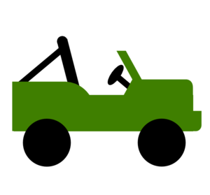 300x279 Green Jeep Clip Art