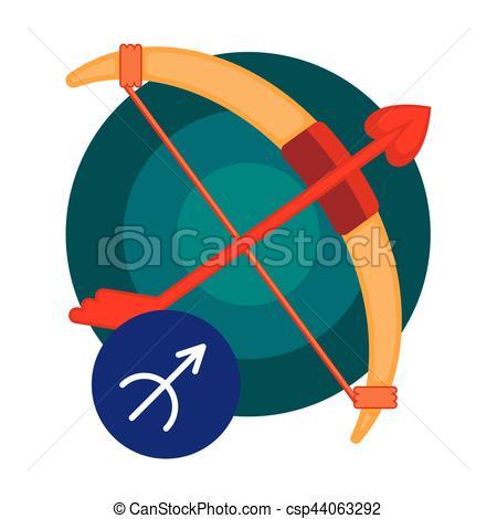 450x470 Sagittarius Astrology Sign Isolated On White. Horoscope Eps