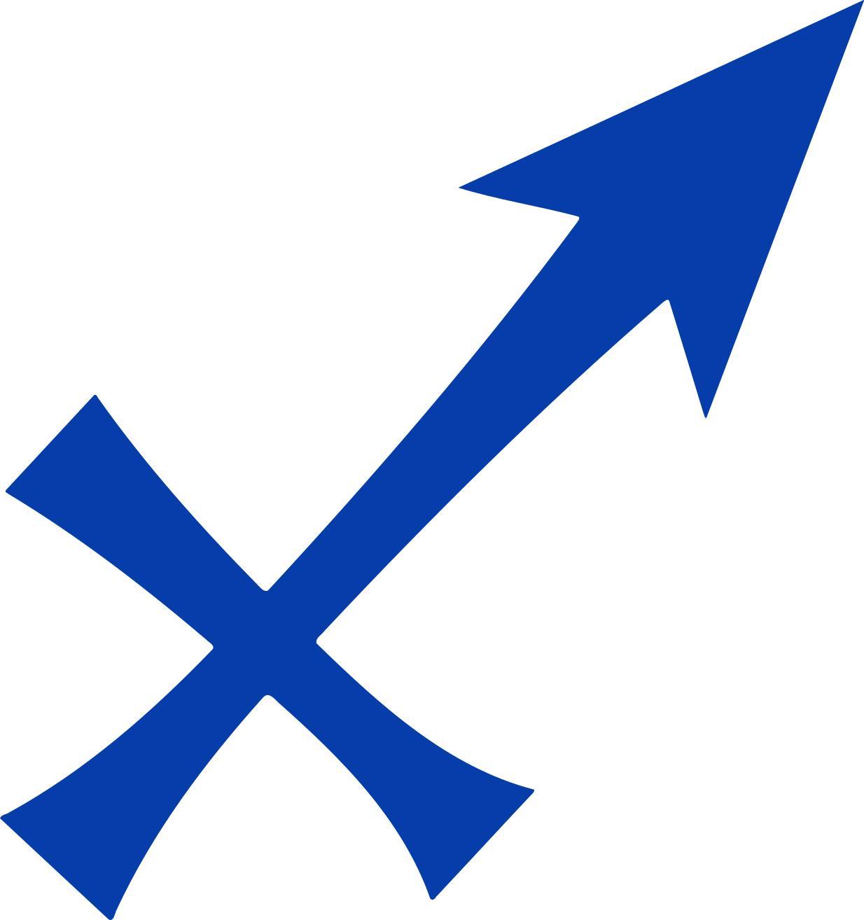 1234x1314 Sagittarius Symbol 2 Clipart