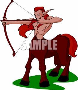 261x300 Sagittarius The Archer With A Bow And Arrow