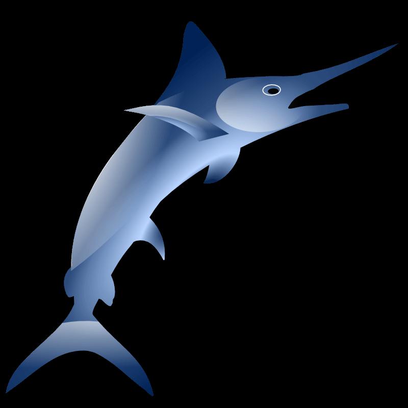 800x800 Jumping Marlin Cliparts