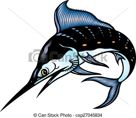 450x392 Marlin Fish Isolated On The White Background Vectors