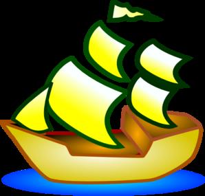 298x285 Sailing Ship Clip Art