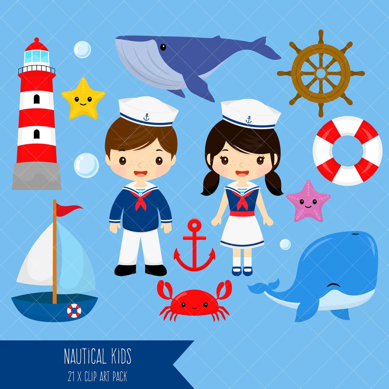 1500x1500 Nautical Kids Clipart Sailor Boy Clip Art Sailor Girl Clip